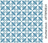 seamless ornamental pattern...   Shutterstock .eps vector #697890814
