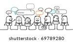 business people   social network | Shutterstock .eps vector #69789280