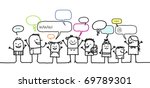 children   social network | Shutterstock .eps vector #69789301