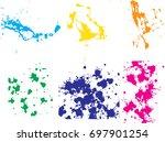 vector paint splatters.colorful ... | Shutterstock .eps vector #697901254