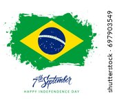 brazil independence day  7... | Shutterstock .eps vector #697903549