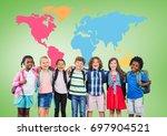 digital composite of... | Shutterstock . vector #697904521