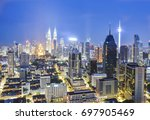 beautiful cityscape of night... | Shutterstock . vector #697905469