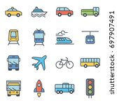 transportation and vehicles... | Shutterstock .eps vector #697907491