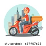 fast delivery concept... | Shutterstock . vector #697907635