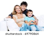 happy young family with child... | Shutterstock . vector #69790864