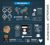 infographic template with... | Shutterstock . vector #697909345