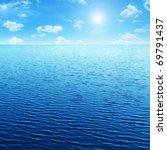 blue sky sun and sea. | Shutterstock . vector #69791437