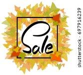 autumn sale in frame