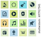 audio icons set. collection of... | Shutterstock .eps vector #697917541