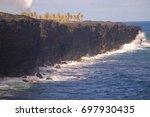 hawaiian kalapana lava steam... | Shutterstock . vector #697930435
