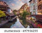 city of colmar. cityscape image ... | Shutterstock . vector #697936255