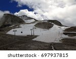 Small photo of Hintertux glacier at the top of the Tuxertal in the summer - one of the only two ski resorts in the world offering skiing 365 days a year, Austria.