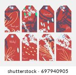 hand drawn creative tags.... | Shutterstock .eps vector #697940905