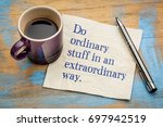 do ordinary things in an... | Shutterstock . vector #697942519