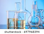 lab glassware  science... | Shutterstock . vector #697968394