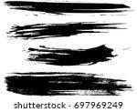 set of grunge brush strokes    Shutterstock .eps vector #697969249