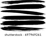 set of grunge brush strokes  | Shutterstock .eps vector #697969261