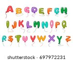 Large Alphabet Balloon Cartoon