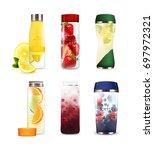 set of bottles of various shape ... | Shutterstock .eps vector #697972321