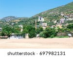 typical city landscape from the ... | Shutterstock . vector #697982131