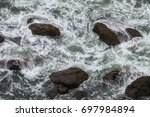ocean water swirls patterns... | Shutterstock . vector #697984894