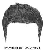 trendy stylish man hairs gray... | Shutterstock .eps vector #697990585