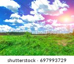 high power and natural towers... | Shutterstock . vector #697993729