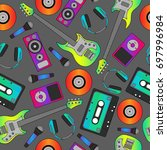 seamless flutter pattern.... | Shutterstock .eps vector #697996984