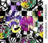 seamless geometric pattern... | Shutterstock .eps vector #698001055