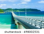 tsunoshima bridge  yamaguchi... | Shutterstock . vector #698002531