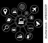 industry 4.0 concept  smart... | Shutterstock .eps vector #698003059