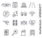 airport element line icons.... | Shutterstock .eps vector #698006377