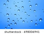 Rain Drop On Window Glass With...