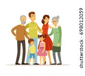 illustration of big family... | Shutterstock . vector #698012059