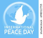 international peace day. peace... | Shutterstock .eps vector #698012755