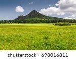 idyllic summer scenic landscape ... | Shutterstock . vector #698016811