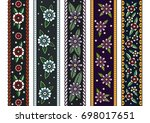 vector decorative floral... | Shutterstock .eps vector #698017651