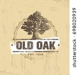 old oak workshop artisan rough... | Shutterstock .eps vector #698020939