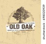 old oak workshop artisan rough... | Shutterstock .eps vector #698020939