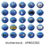 25 blue web icons set | Shutterstock . vector #69802282