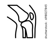 knee bone joint   articulation... | Shutterstock .eps vector #698027845