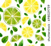 seamless pattern with slices of ...   Shutterstock .eps vector #698029759