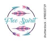 free spirit cartoon scene | Shutterstock .eps vector #698033719