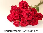 Stock photo red roses bouquet 698034124