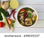 Thai Spicy Snake Head Fish Soup....