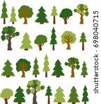 variety clip art tree... | Shutterstock .eps vector #698040715