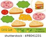 education paper game for... | Shutterstock .eps vector #698041231