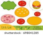 education paper game for... | Shutterstock .eps vector #698041285