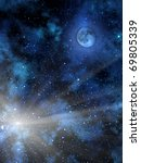sky  star   moon   fog | Shutterstock . vector #69805339